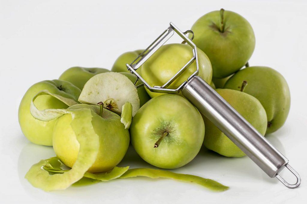 less waste - skórki jabłek